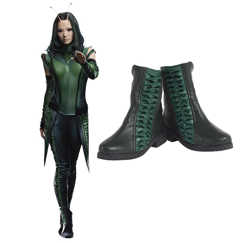 Guardians of the Galaxy 2 Marvel Mantis Cosplay Skor Stövlar Karneval
