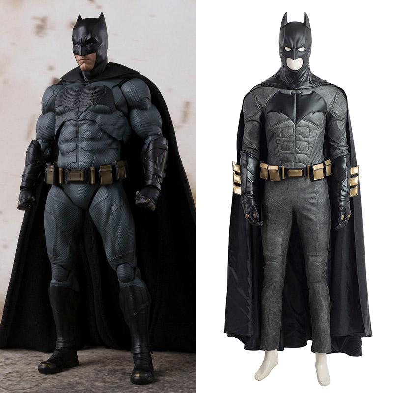 Justice League Batman Cosplay Kostym Svart Karneval