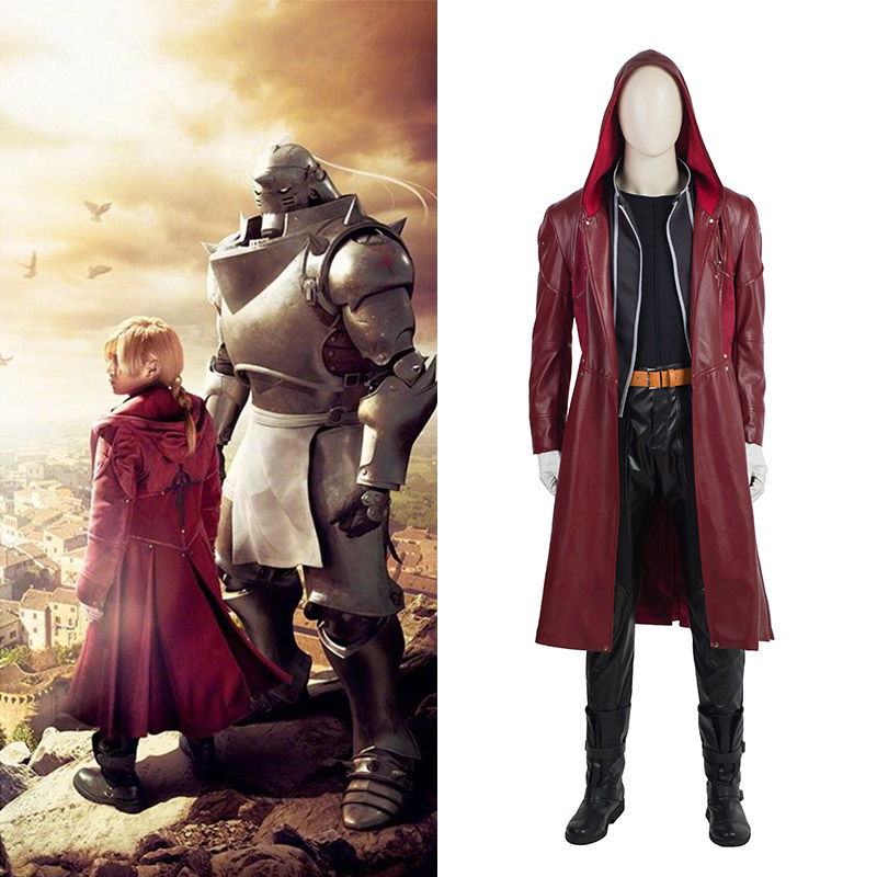 Film Fullmetal Alchemist Edward Elric Cosplay Costumes Full Set
