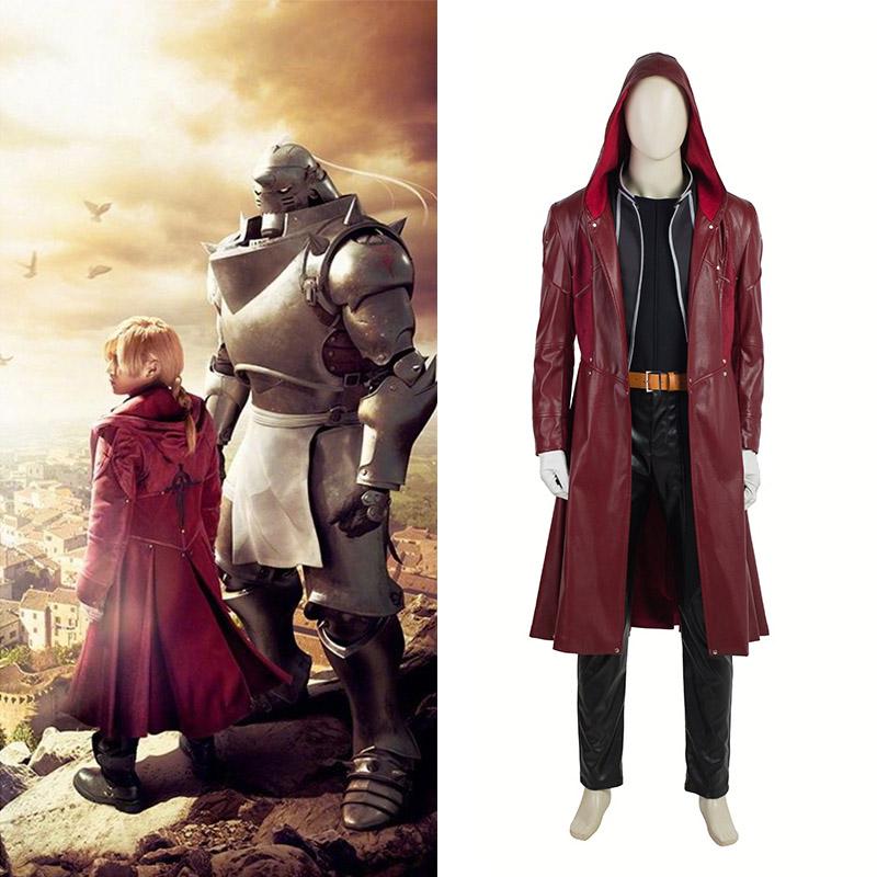 Film Fullmetal Alchemist Edward Elric Cosplay Costume