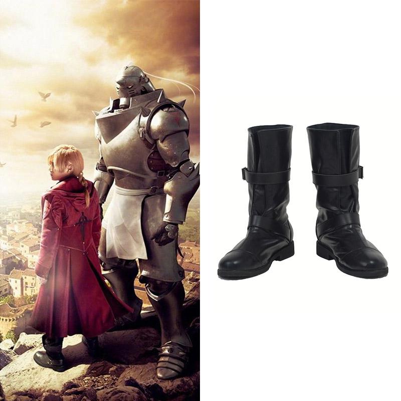 Film Fullmetal Alchemist Edward Elric Cosplay Sapatos Botas Carnaval
