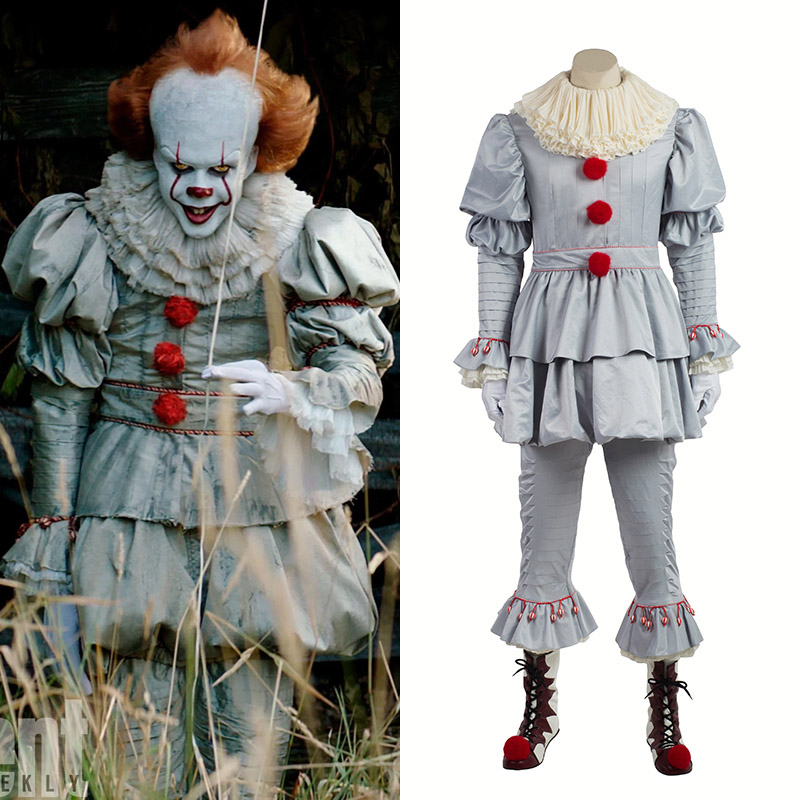 Stephen King's It Det Pennywise Cosplay Kostymer Hela Set Karneval