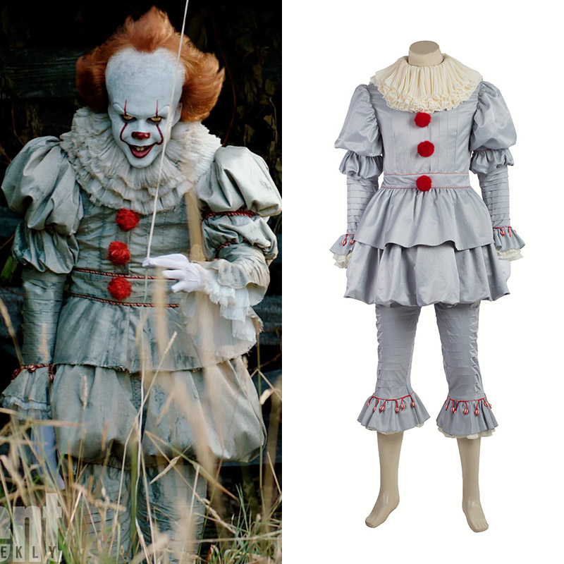 Stephen King's It Det Pennywise Cosplay Kostym Karneval