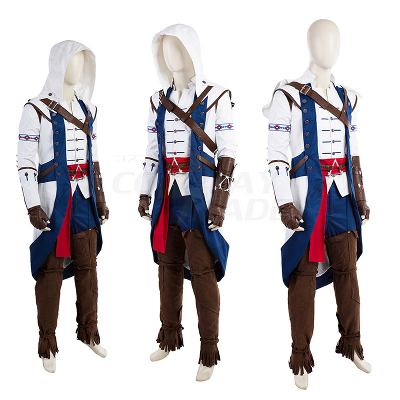 Assassin\'s Creed III Kenway Connor Cosplay Costumes Full Set
