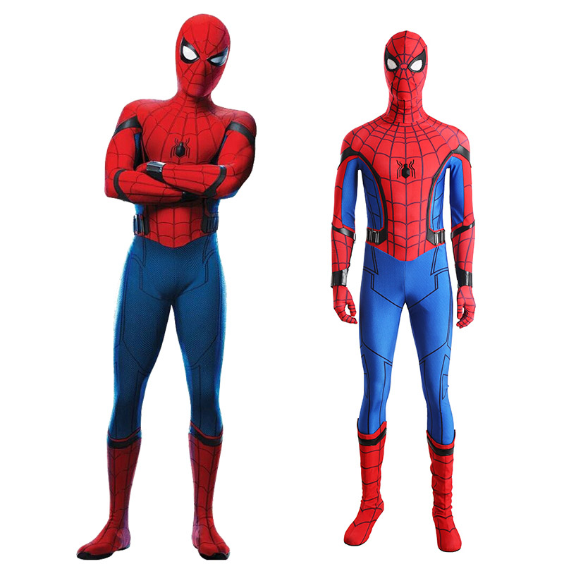 Spider-Man:Homecoming Spider Man Cosplay asut Koko setti Naamiaisasut