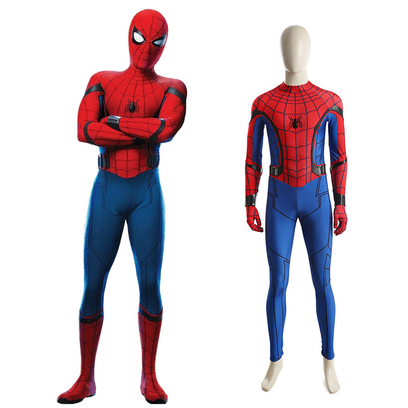Spider-Man:Homecoming Spider Man Cosplay Kostyme Karneval