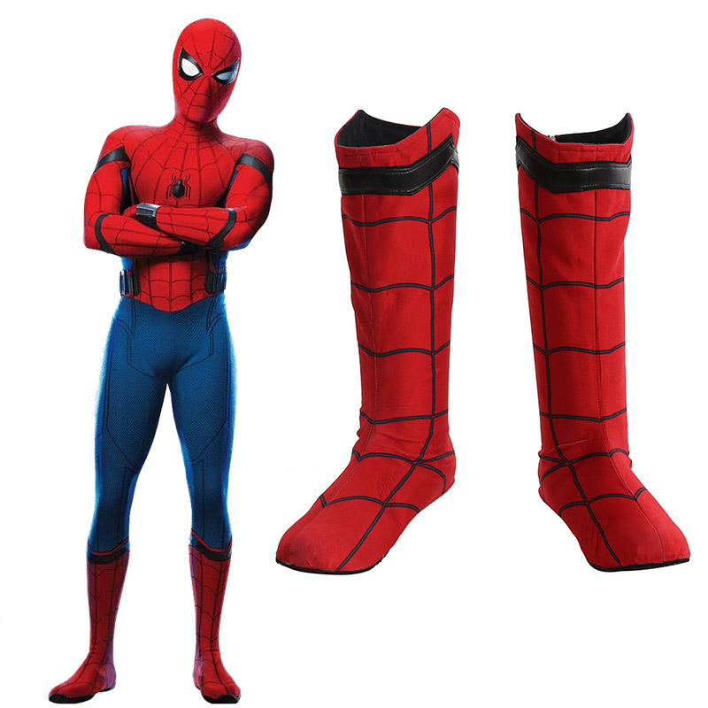 Spider-Man:Homecoming Spider Man Cosplay Sko Støvler Karneval