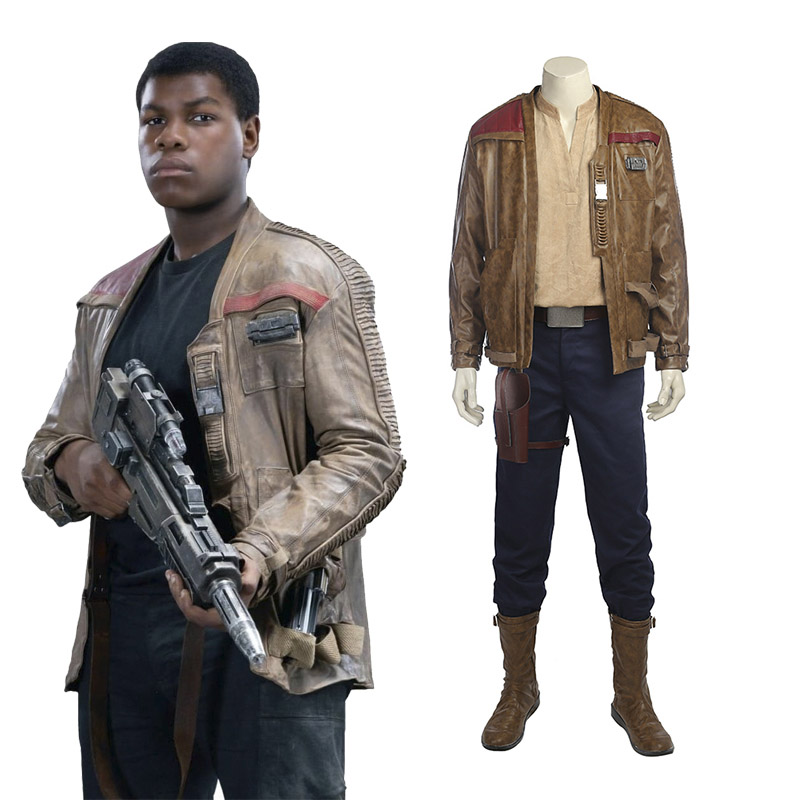 Star Wars 8: The Last Jedi Finn Cosplay Kostuum Volledige set Carnaval Halloween