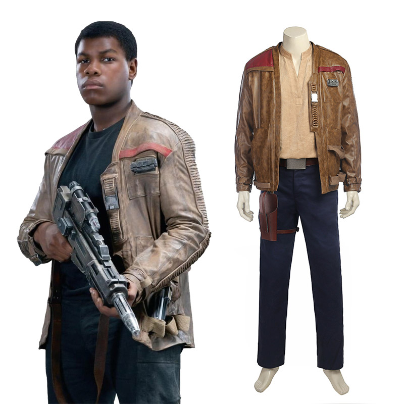 Star Wars 8: The Last Jedi Finn Cosplay Traje Carnaval