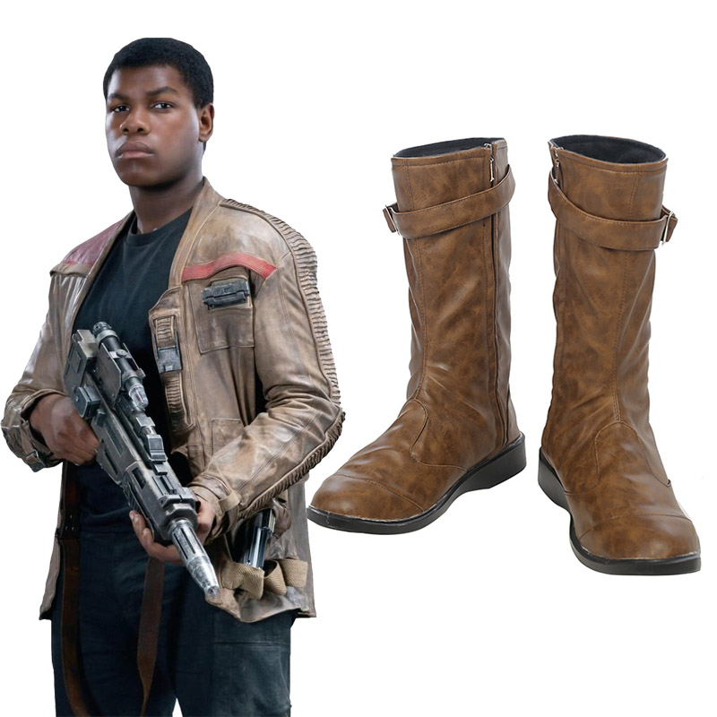 Star Wars 8: The Last Jedi Finn Cosplay Skor Stövlar Karneval