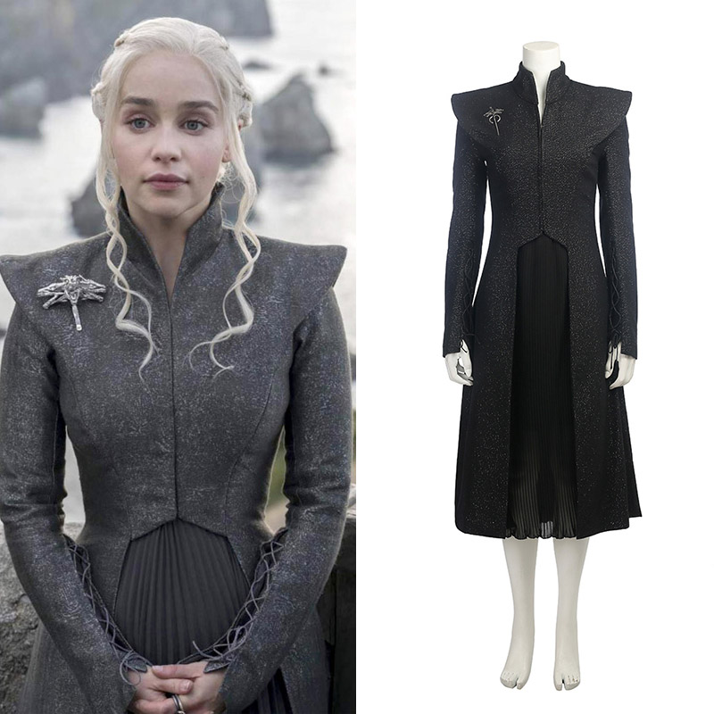 Game of Thrones 7 Daenerys Targaryen Cosplay Kostymer Mother of Dragons Karneval