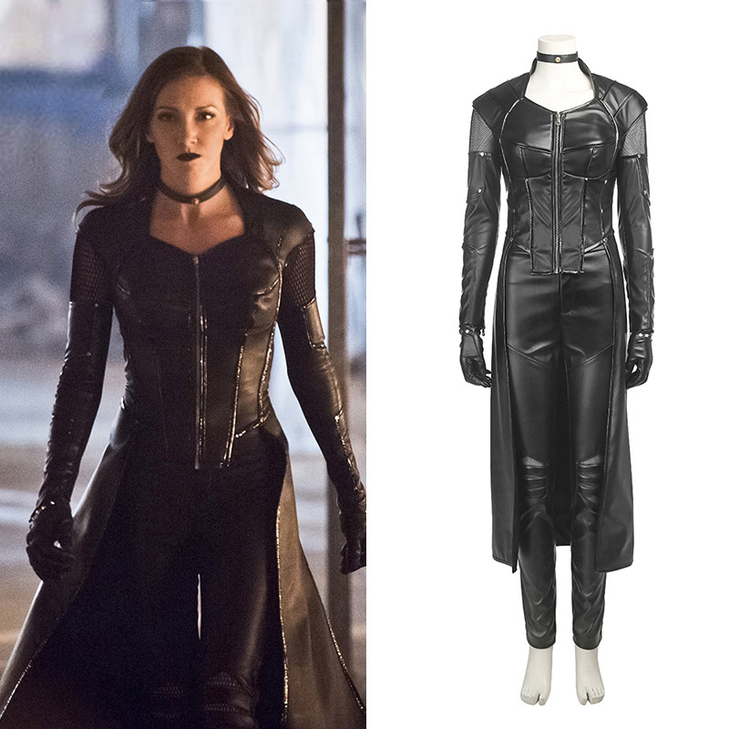 Marvel Arrow Season 5 Preto Canary Cosplay Trajes Carnaval