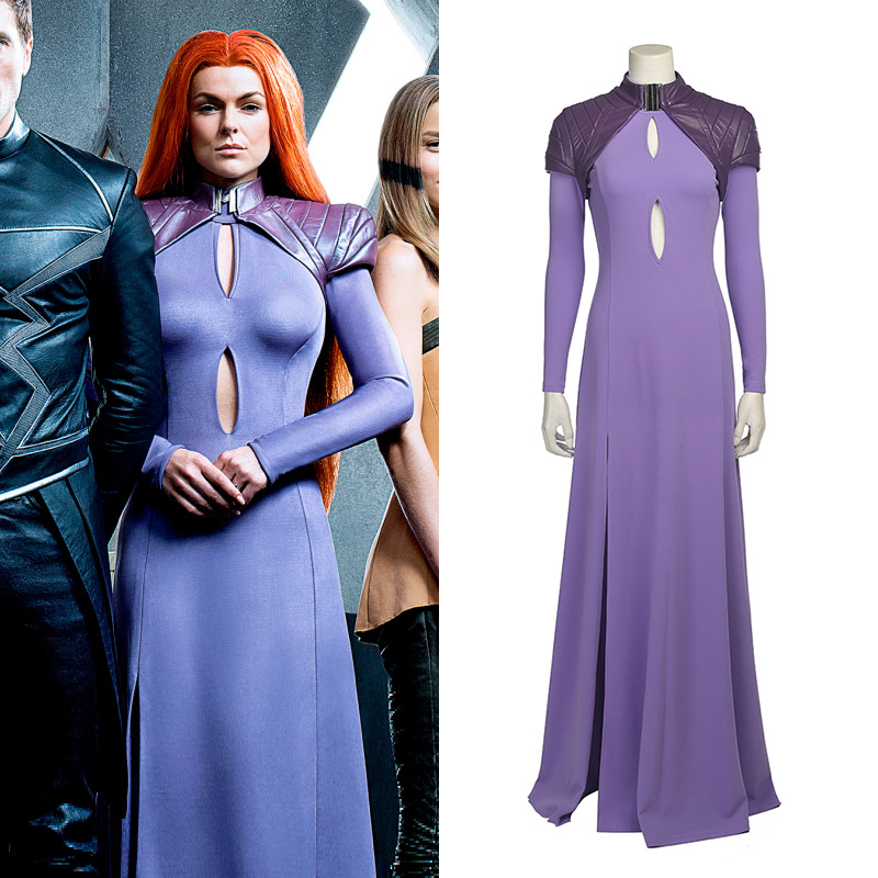 Marvel Medusa Cosplay Costume Ensemble Entier Carnaval