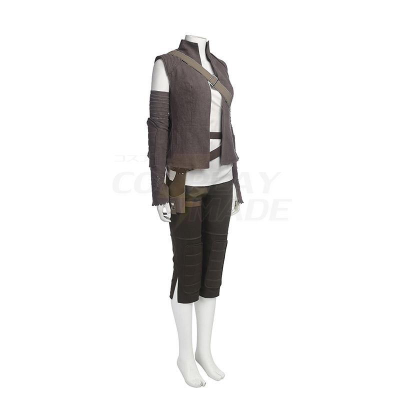 Star Wars 8: The Last Jedi Rey Cosplay asut Koko setti Naamiaisasut
