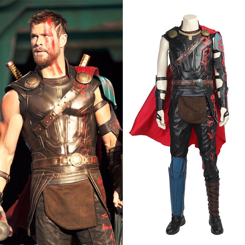 Marvel Thor: Ragnarok Thor Odinson Cosplay Kostymer Hele Settet Karneval