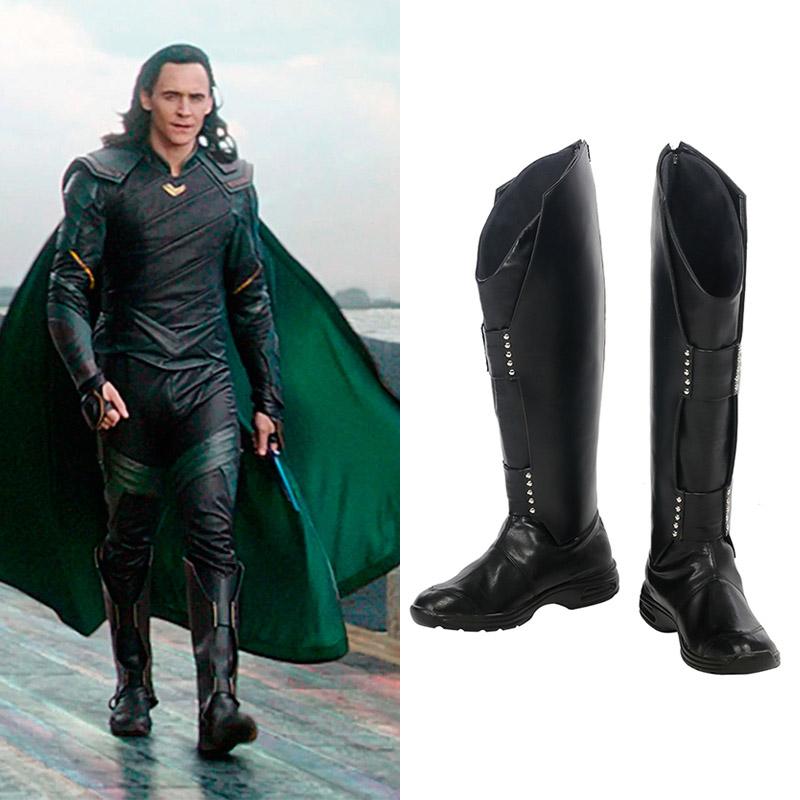 Marvel Thor: Ragnarok Loki Laufeyson Cosplay Chaussures Bottes Carnaval