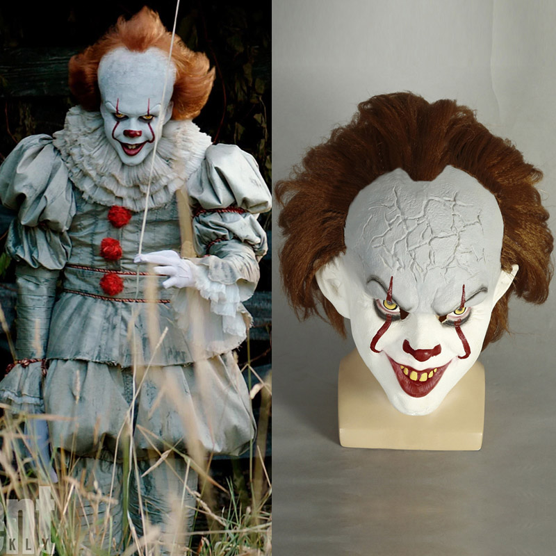 Stephen King's It Pennywise Cosplay Parykk Maske Karneval