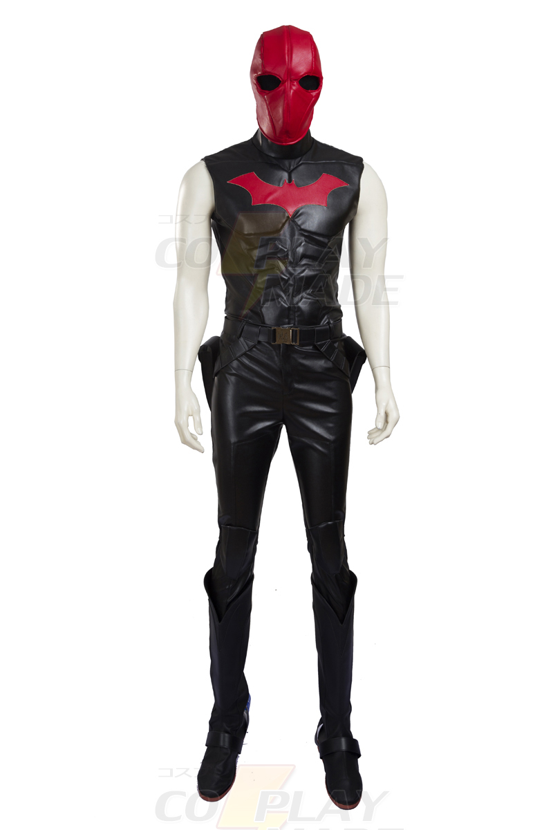 Batman Jason Todd Red Hood Cosplay Halloween Karneval Kläder Dräkt Sverige