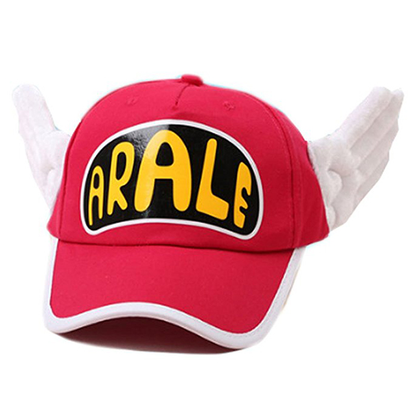Red Angel Wings with Glasses Dr. Slump Arale Cap Hat for Cosplay Props