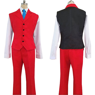 Ace Attorney Apollo Justice Cosplay Kostym