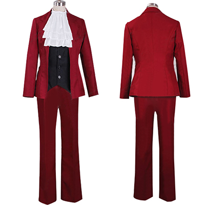 Costume Ace Attorney Miles Edgeworth Cosplay Déguisement