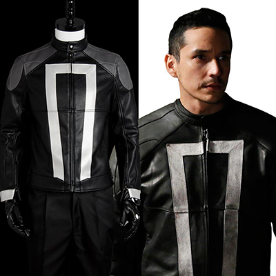 Agents of Shield S.H.I.E.L.D Ghost Rider Jacka Cosplay Kostym