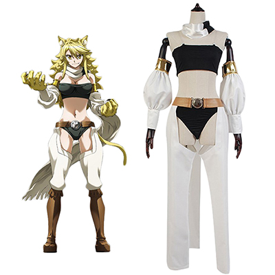 Akame ga Kill Night Raid Leone Cosplay Puku Asut