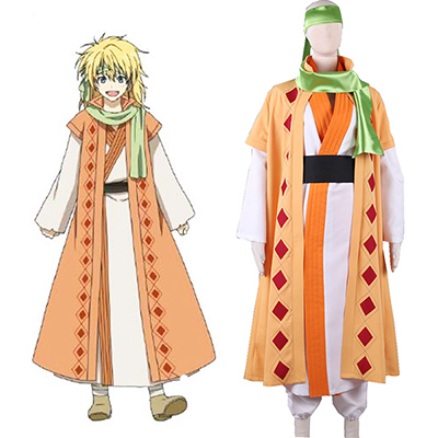 Akatsuki no Yona: Yona of the Dawn Gul Dragon warrior Jeno Han fu Cosplay Kostym