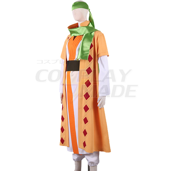 Akatsuki no Yona: Yona of the Dawn Yellow Dragon warrior Jeno Han fu Cosplay Costume