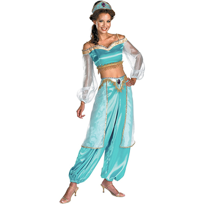 Aladdin Jasmine Cosplay Costume Princess