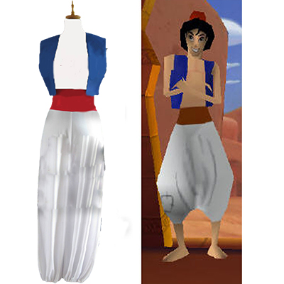 Aladdin Movie Cosplay Kostuum Jasmine Prince Cosplay Kostuum