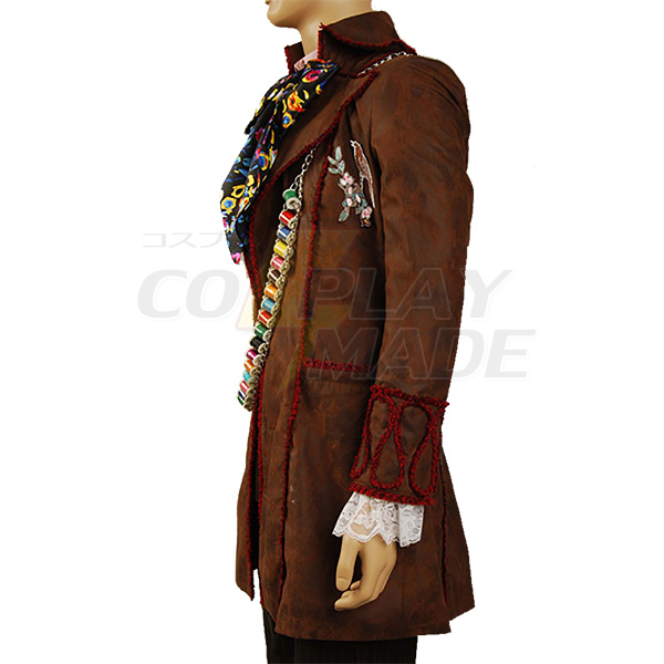 Alice In Wonderland Johnny Depp as Mad Hatter Outfit Cosplay Costume