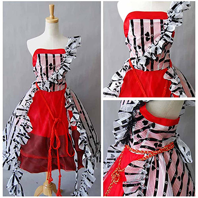 Alice In Wonderland Tim Burton Faschingskostüme Cosplay Kostüme Rot