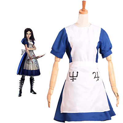Alice: Madness Returns Alice Maid Cosplay Kostyme