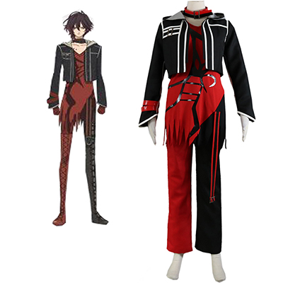 Amnesia heart Shin Cosplay Kostume Rød Skræddersyet