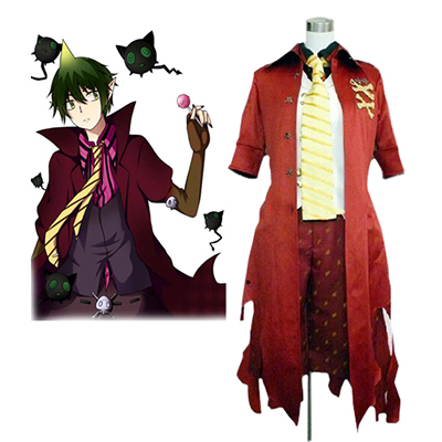 Blauw Exorcist King of the Earth Amaimon Cosplay Kostuum