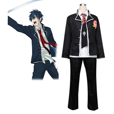Blue Exorcist Okumura Rin True Cross Academy Uniform Cosplay Kostym