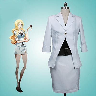 Assassination Classroom Irina Jelavich Klänning Suit Cosplay Kostym