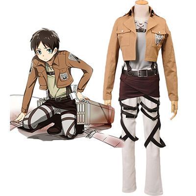 Attack on Titan Shingeki no Kyojin Eren Jaeger Trainee Class Cosplay Kostym