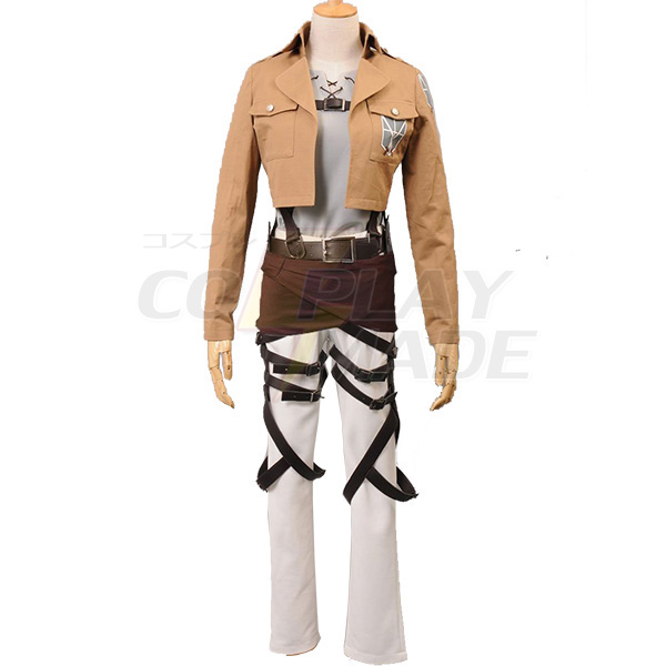 Attack on Titan Shingeki no Kyojin Eren Jaeger Trainee Class Cosplay Costume