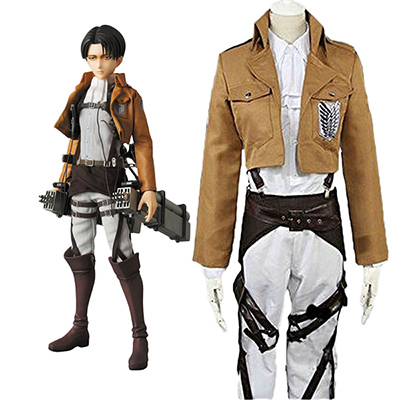 Attack On Titan Levi Ackerman the Recon Corps Cosplay Kostym