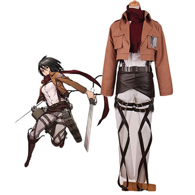 Attack on Titan Shingeki no Kyojin Mikasa Ackerman Cosplay Kostym
