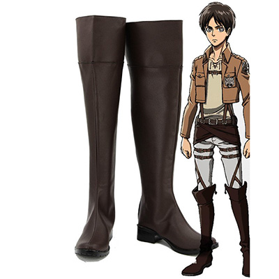 Attack on Titan Shingeki No Kyojin Levi Mikasa Eren Cosplay Stövlar
