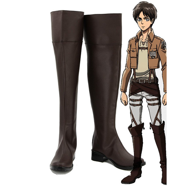 Zapatos Attack on Titan Shingeki No Kyojin Levi Mikasa Eren Cosplay Botas