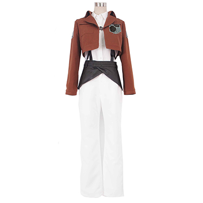 Attack on Titan Stationed Corps Rosa Rugosa Cosplay Kostym