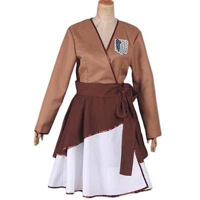 Attack on Titan The Recon Corps Wings of Freedom Lolita Mekko Cosplay Puku Asut