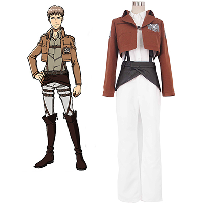 Attack on Titan Shingeki no Kyojin Trainee Class Cosplay Kostym