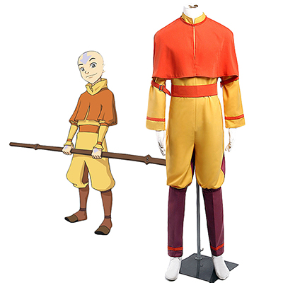 Costumi Avatar: The Last Airbender Avatar Aang Cosplay