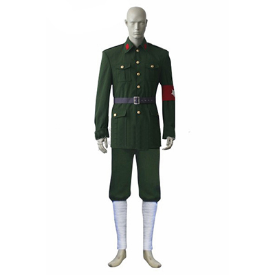 Axis Powers Hetalia APH Allied Forces China Yhtenäinen Cosplay Puku Asut