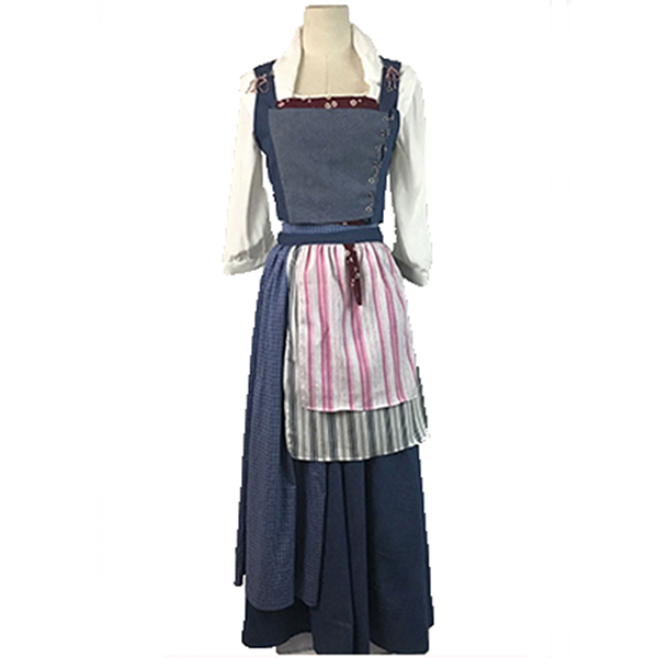 Beauty and the Beast Dress Belle Cosplay Costume Blue Dress Daily
